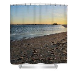 Fuzeta Beach Sunset Scenery. Portugal Shower Curtain by Angelo DeVal