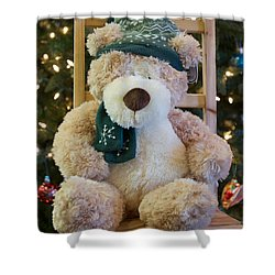 Fuzzy Bear Shower Curtain by Vinnie Oakes
