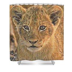 Fuzzy Cubby Shower Curtain