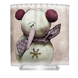 Fuzzy The Snowman Shower Curtain