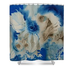 Fuzzy Things Shower Curtain by Donna Acheson-Juillet