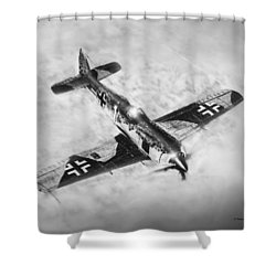 Fw-109a Shower Curtain by Douglas Castleman