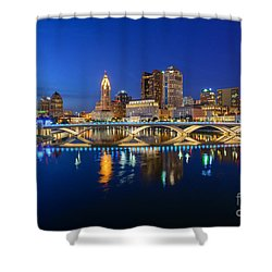 Fx2l531 Columbus Ohio Skyline Photo Shower Curtain