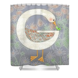 G Is For Goose And Grasshopper Shower Curtain