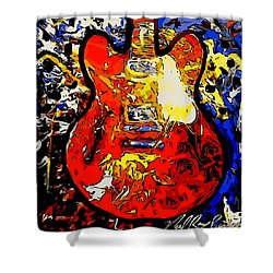 gibson ES-335 rework Shower Curtain
