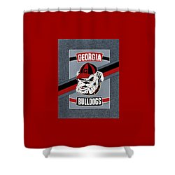 Bulldogs Poster T-shirt Shower Curtain