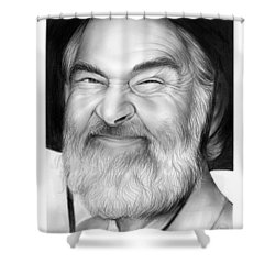 Gabby Hayes Shower Curtain by Greg Joens