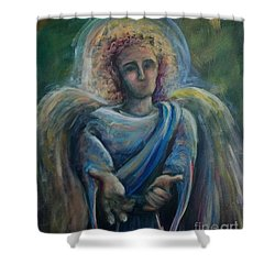 Shower Curtain featuring the painting Gabriel by Lisa DuBois