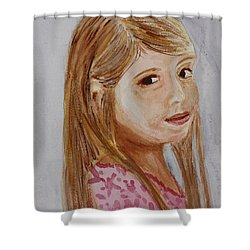 Shower Curtain featuring the painting Gabriella by Donna Walsh