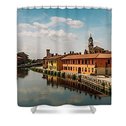 Gaggiano On The Naviglio Grande Canal, Italy Shower Curtain