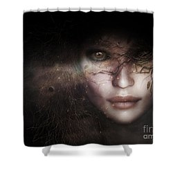 Shower Curtain featuring the digital art Gaia Goddess by Shanina Conway