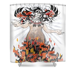 Gaia In Turmoil Shower Curtain