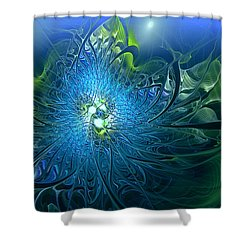 Gaia's Emergence Shower Curtain by Casey Kotas
