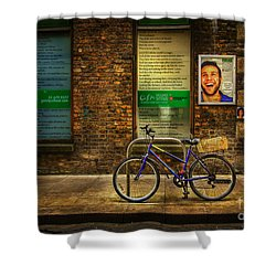 Gaiety Bicycle Shower Curtain