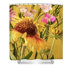 Gaillardia And Dianthus Shower Curtain by Richard Rizzo