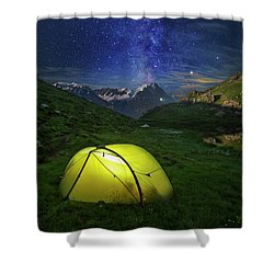 Galactic Eruption Shower Curtain