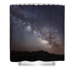 Galactic Light On Badlands National Park Shower Curtain