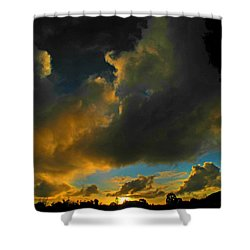 Shower Curtain featuring the photograph Galactic Sunset by Mark Blauhoefer