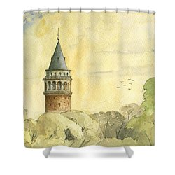 Galata Tower Istanbul Shower Curtain