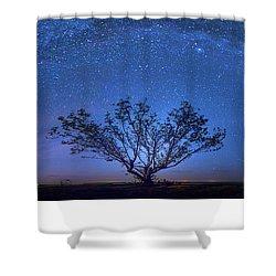 Galatika Shower Curtain by Mark Andrew Thomas