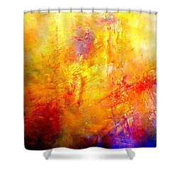 Galaxy Afire Shower Curtain