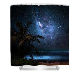 Galaxy Beach Shower Curtain by Mark Andrew Thomas