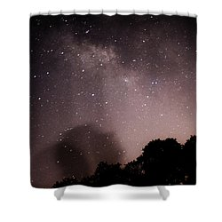 Galaxy Beams Me Shower Curtain by Carolina Liechtenstein