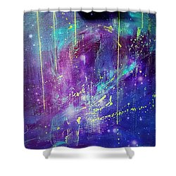 Galaxy In Motion Shower Curtain