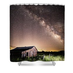 Galaxy In Star Valley Shower Curtain