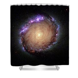 Galaxy Ngc 1512 Shower Curtain by Hubble Space Telescope