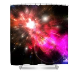 Shower Curtain featuring the digital art Galaxy Of Light by Phil Perkins