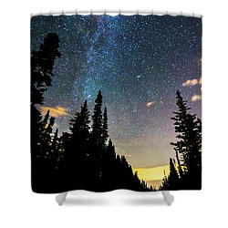 Shower Curtain featuring the photograph  Galaxy Rising by James BO Insogna