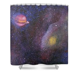 Galaxy Shower Curtain by Sheri Keith via Jayd