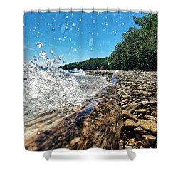Galaxy Splash Shower Curtain by Nikki McInnes