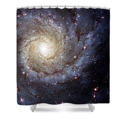 Galaxy Swirl Shower Curtain by Jennifer Rondinelli Reilly - Fine Art Photography