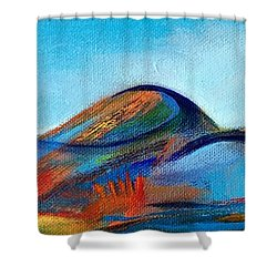 Galaxyscape Shower Curtain by Elizabeth Fontaine-Barr