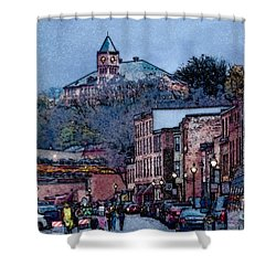Galena Illinois Shower Curtain by David Blank