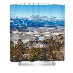 Galena Summit Idaho Shower Curtain by Michael Rogers