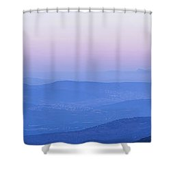 Shower Curtain featuring the photograph Galilee Mountains Sunset by Yoel Koskas