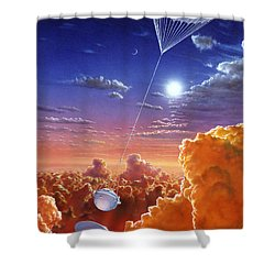 Galileo Space Probe Shower Curtain by Lionel Bret and Photo Researchers