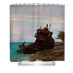 Gallant Lady Aground Shower Curtain
