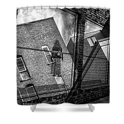 Gallery Noir Shower Curtain
