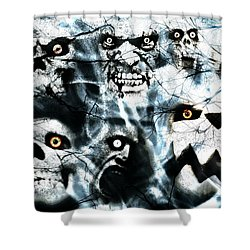 Shower Curtain featuring the photograph Gallery Of Ghouls Vi by Aurelio Zucco