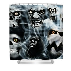 Shower Curtain featuring the photograph Gallery Of Ghouls Vii by Aurelio Zucco