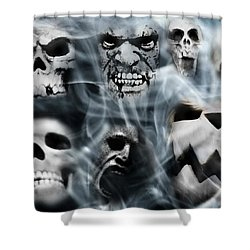 Gallery Of Ghoulsviii Shower Curtain by Aurelio Zucco