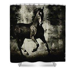 Galloping Horse Artwork Shower Curtain