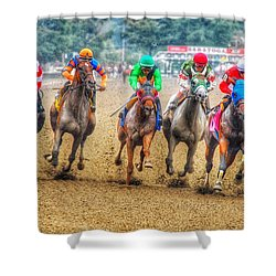 Galloping Shower Curtain