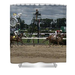 Galloping Out Painting Shower Curtain