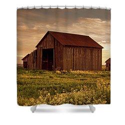 Galt Barn At Sunset Shower Curtain