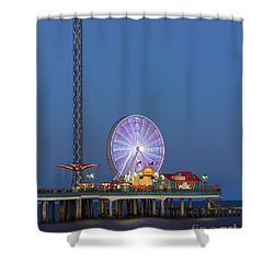 Galveston Pier  Shower Curtain